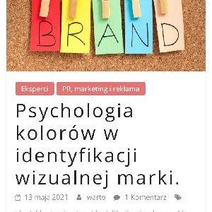 Psychologia kolorów w budowaniu marki.  thumbnail