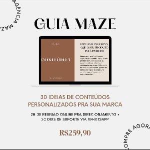 Guia Maze: 30 conteúdos personalizados pra sua marca thumbnail